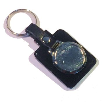 Keyfob Blank Rectangle 25mm recess